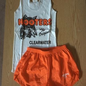 Lot of 2 Hooters med/Sm tank/shorts hose/socks